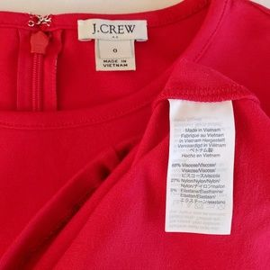 J. Crew Factory Dresses - J Crew red long sleeve stretch ponte dress K3469